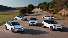 Gama Peugeot de eléctricos e híbridos.