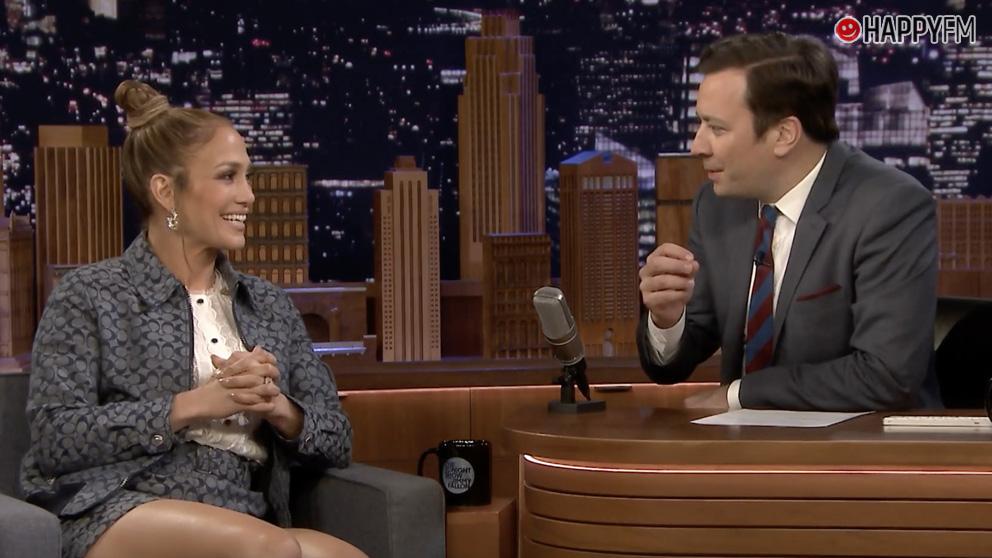 Jennifer Lopez en 'The Tonght Show'