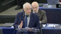 Josep Borrell, este martes, en la Eurocámara.
