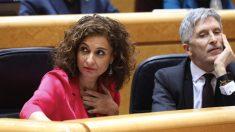 María Jesús Montero en el Senado. (Foto: PSOE)