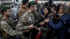 Protesta frente al Parlamento del Líbano. Foto: EP