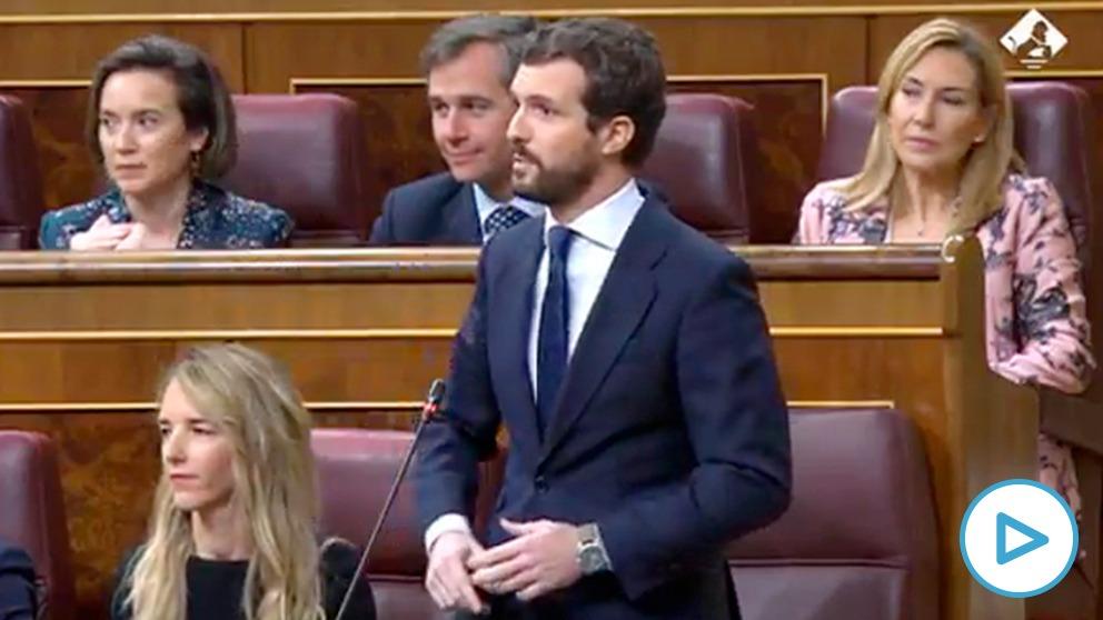 Pablo Casado a Pedro Sánchez:»Cumpla la ley y hágala cumplir, que no es mucho pedir en democracia».