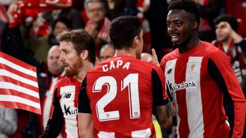 Munain celebra su gol ante el Granada. (EFE)