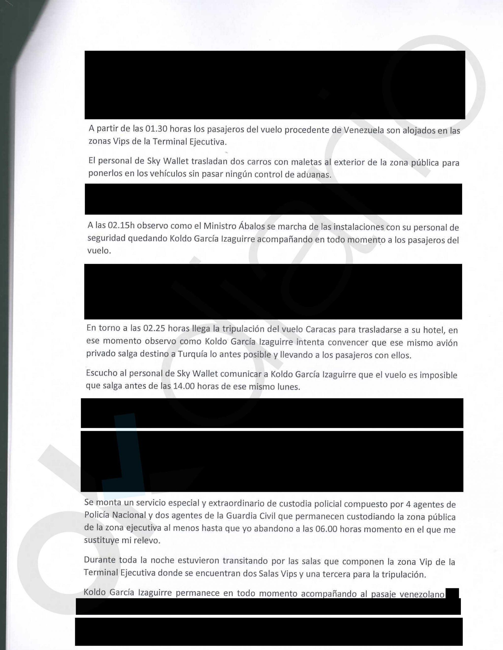 Un testigo declara ante notario que Delcy pisó suelo Schengen y que introdujo 2 carros de maletas en España