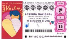 Comprobar resultado Lotería Nacional San Valentín 2020