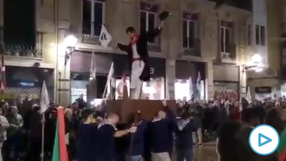 Homenaje a Arantza Zulueta en Bilbao tras salir de la cárcel.
