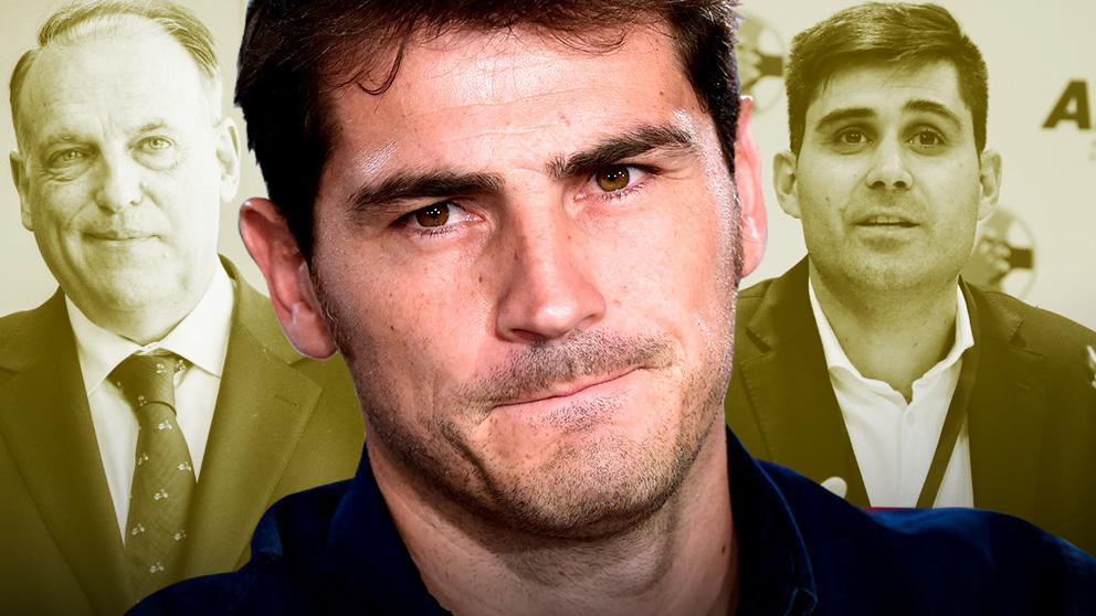 Iker Casillas tiene a Tebas y Aganzo detrás de su candidatura.