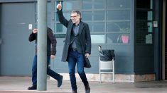 Jordi Cuixart, al salir de prisión. (Efe)
