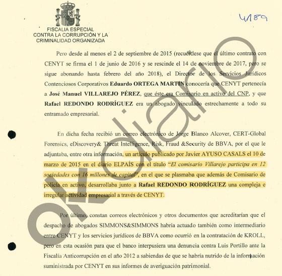 Javier Ayuso publicó un artículo en El País sobre Villarejo.