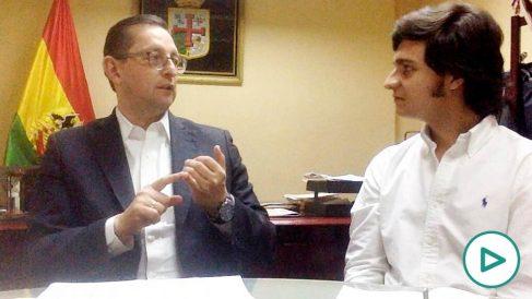 El senador boliviano Óscar Ortiz durante la entrevista con OKDIARIO.