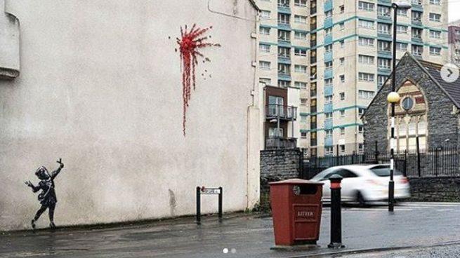 Fotografía del mural de Bansky realizado en Bristol publicada por el artista en su perfil de instagram.