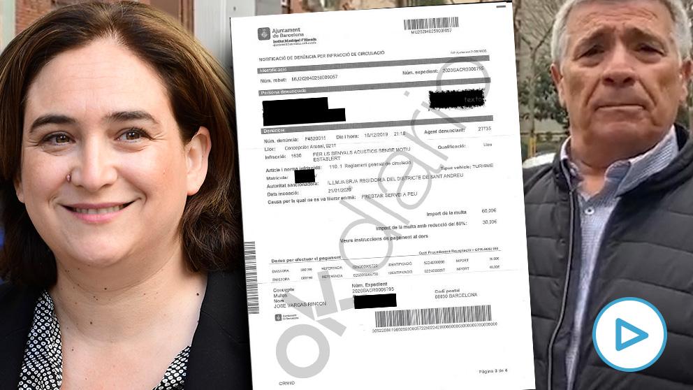 Ada Colau ha multado a un vecino por tocar el claxon durante un corte de calles de los CDR.