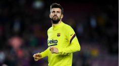 Gerard Piqué calentando (Getty).