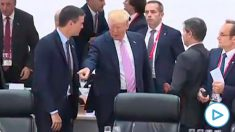 Pedro Sánchez y Donald Trump, en la Cumbre del G-20 de 2019 en Osaka.