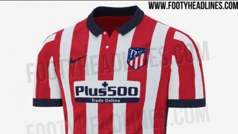 Posible camiseta del Atlético de Madrid para la temporada 2020-2021. (Footy Headline)