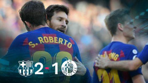 El Barcelona se impuso 2-1 al Getafe.