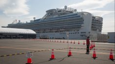 El Diamond Princess atracado en Japón. Foto: EP