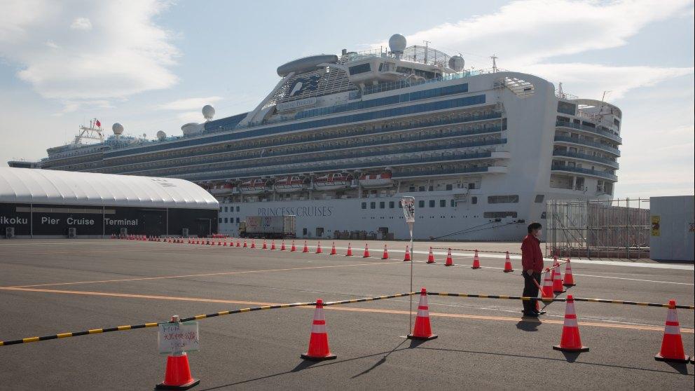 El Diamond Princess atracado en Japón. Foto: EP