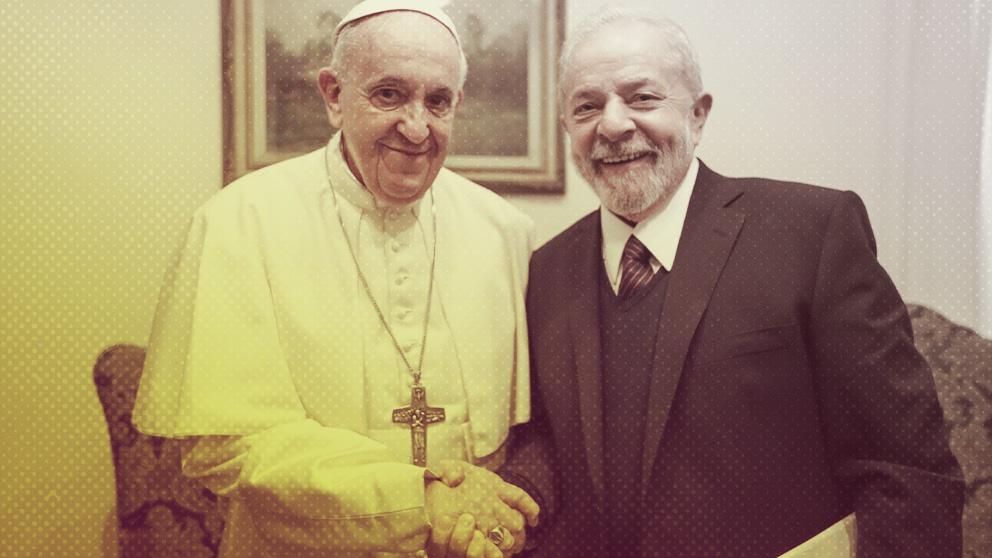 Lula da Silva y el Papa Francisco
