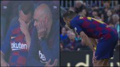 Jordi Alba se fue lesionado.