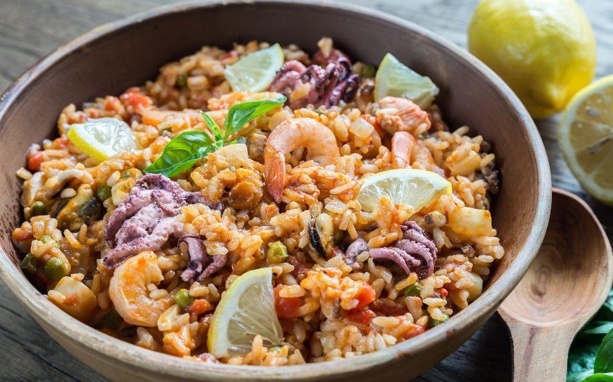 Receta de arroz con pulpitos y gambas