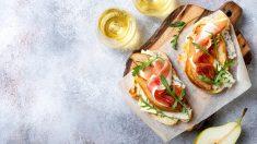 Receta de canapés con jamón y queso