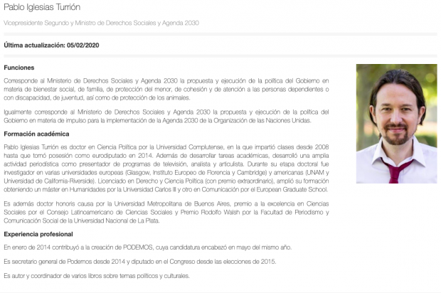 Iglesias presume en su currículum oficial de un premio que también tienen los narcotiranos Chávez y Maduro