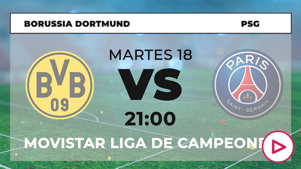 Champions League 2019-2020: Borussia Dortmund – PSG | Horario del partido de fútbol de Champions League.