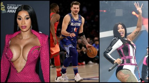 Doncic se declara fan de Cardi B en el All Star. (AFP)