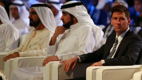 Messi, en una vista a Dubai en 2015. (AFP)