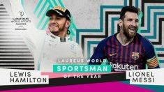 Lewis Hamilton y Lionel Messi, reyes en los Laureus.