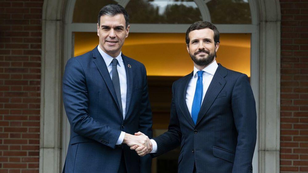 Sánchez y Casado, en una imagen de archivo en La Moncloa.
