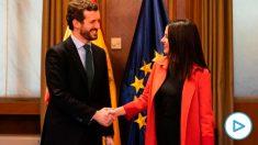 Pablo Casado e Inés Arrimadas, en el Congreso.