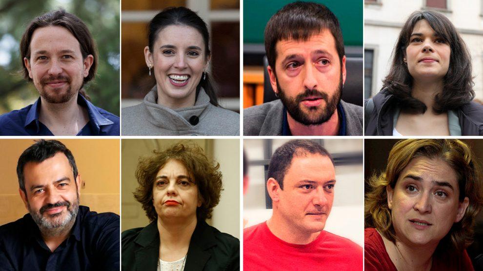 Las parejas Iglesias-Montero, Del Olmo-Serra, Fernández-Elizo y Alemany-Colau. (de izquierda a derecha y de arriba abajo)