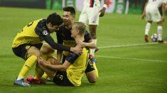 Haaland dio la victoria al Dortmund contra el PSG. (AFP)