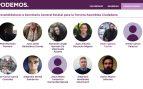 Candidatos a las primarias de Podemos.