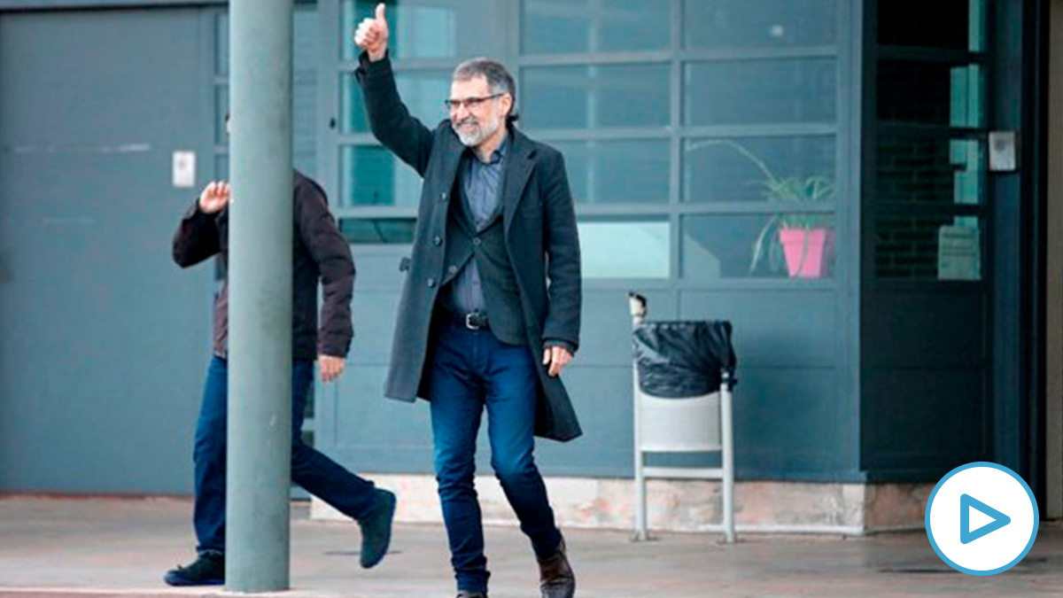 Jordi Cuixart en su primer permiso carcelario para trabajar. (Efe)