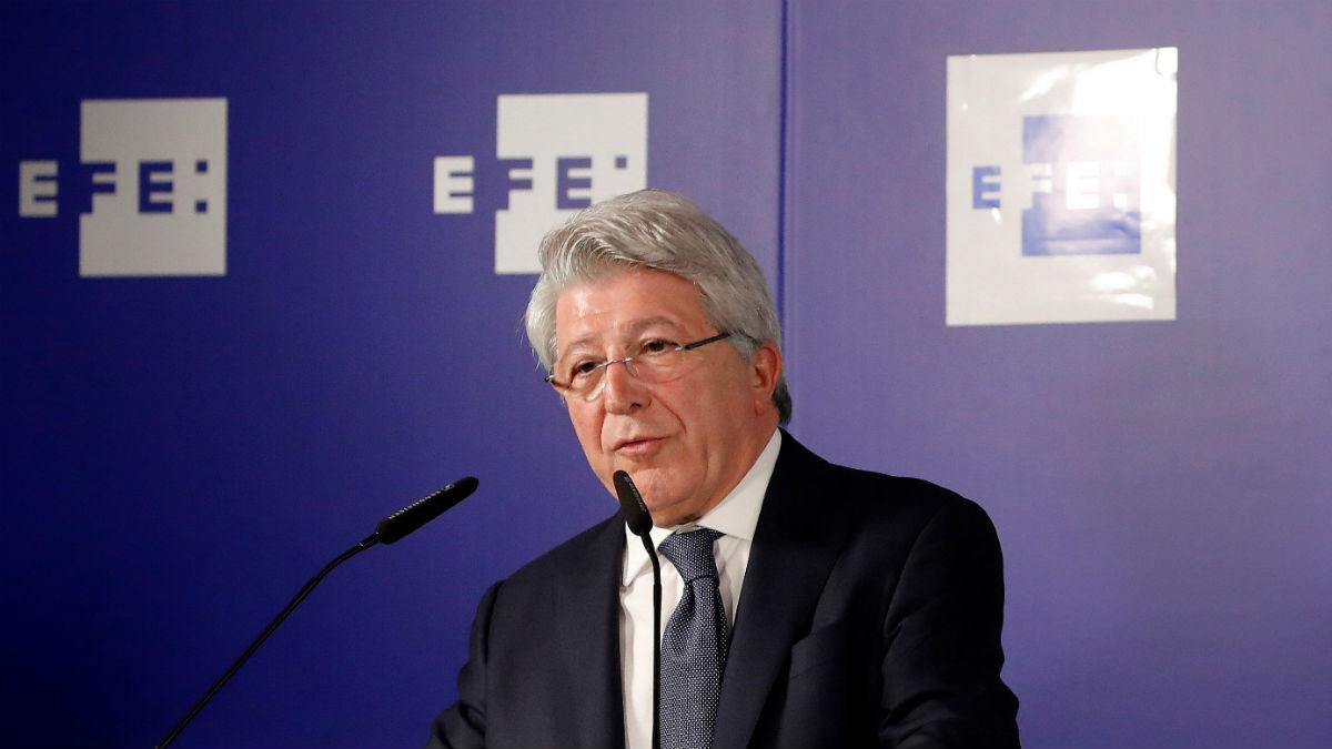 Enrique Cerezo, durante el acto de EFE. (efe)