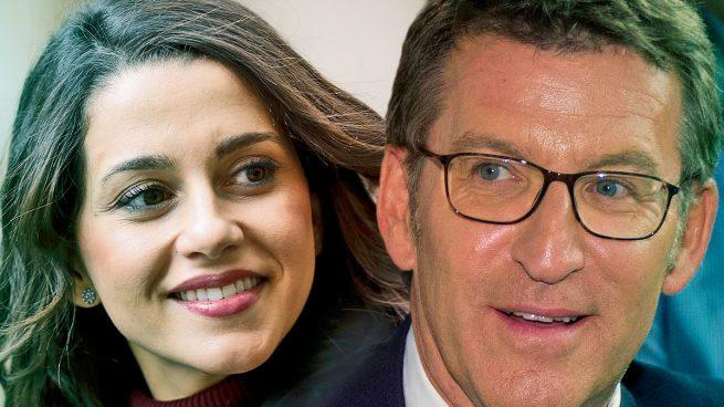 Arrimadas pidió a Feijóo una consejería, puestos de salida y financiación para acudir juntos en Galicia
