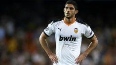 Gonçalo Guedes durante un partido con el Valencia en Champions. (Getty)