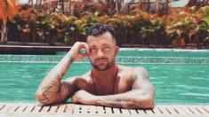 Rubén Sánchez, en la piscina. (@iamrubosanchez)