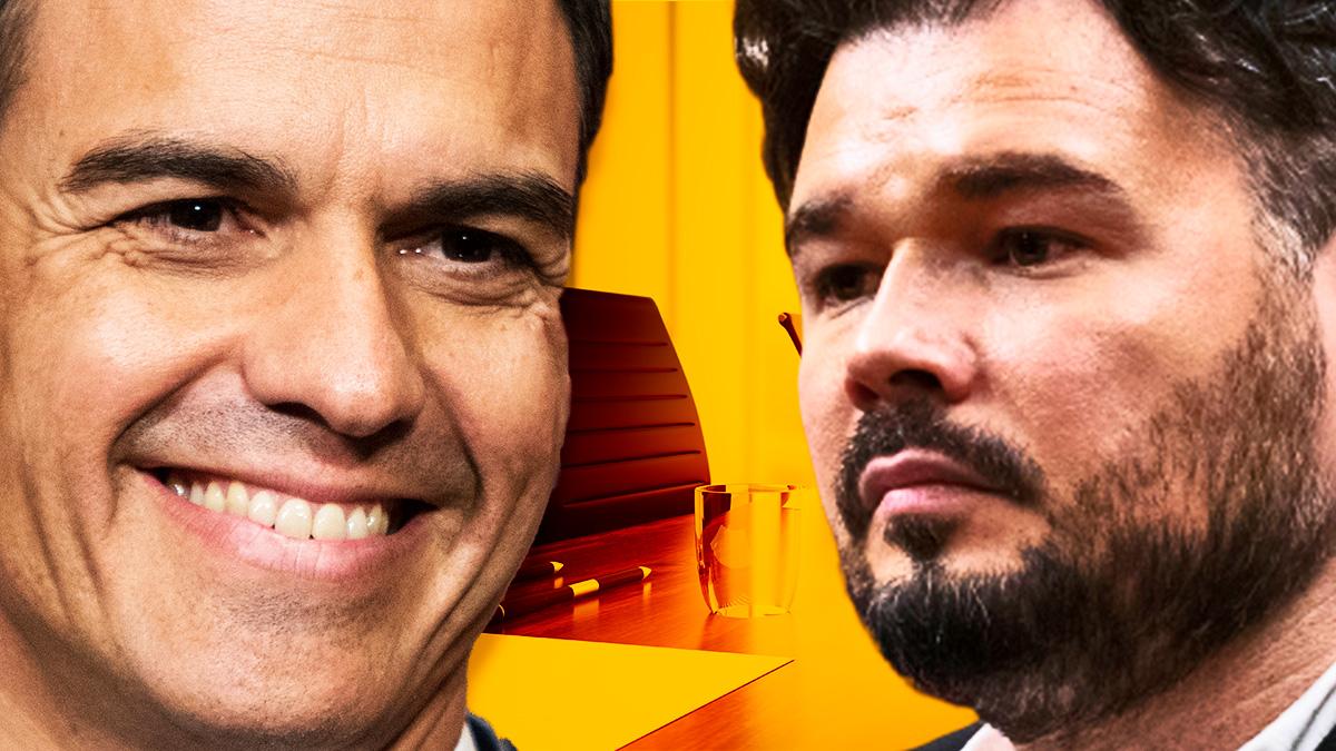 Pedro Sánchez y Gabriel Rufián.