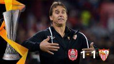 El Sevilla empató ante el Cluj en los últimos minutos.