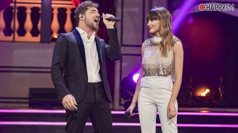 David Bisbal y Aitana disfrutan de las grabaciones de La Voz Kids