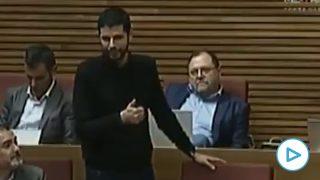 El diputado socialista David Calvo en las Cortes valencianas
