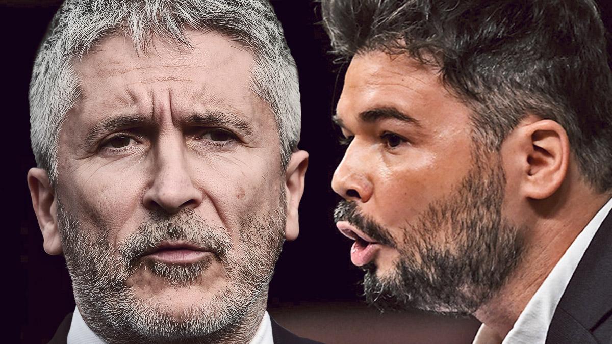 El ministro del Interior, Fernando Grande-Marlaska, y el diputado de ERC Gabriel Rufián.