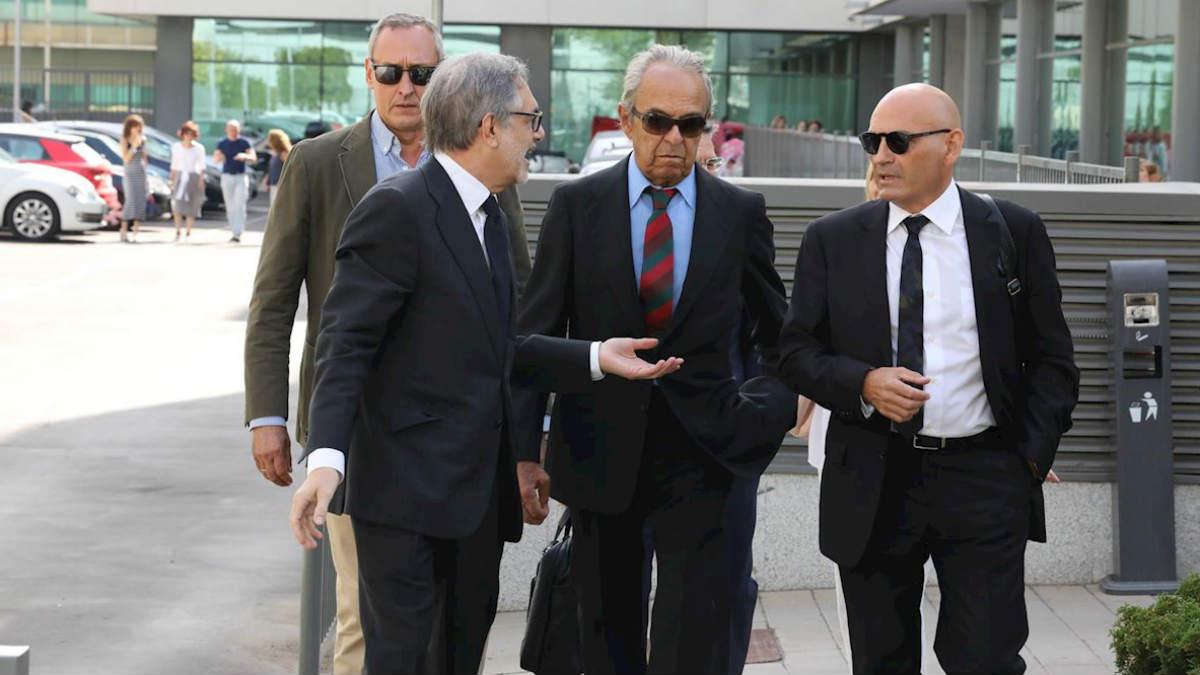 Jaime Botín, durante una reciente comparecencia en los juzgados