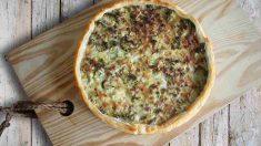 Receta de Quiché de queso cabra, calabaza y champiñón