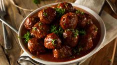 Receta de Albóndigas de cordero en salsa española