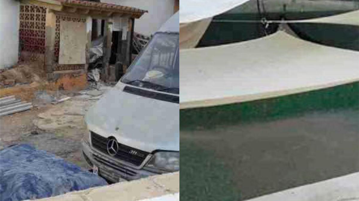 Un hombre quería convertir su piscina en habitaciones para alquilar en Ibiza